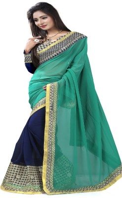 STYLO SAREES Embriodered Fashion Georgette Sari
