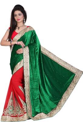 Glamoroussurat Fashion Embriodered Bollywood Handloom Velvet Sari
