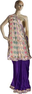 Serwans Plain Fashion Chanderi Sari