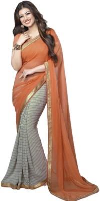 Thankar Plain Fashion Georgette Sari