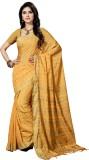 Rani Saahiba Striped Bhagalpuri Polycott...