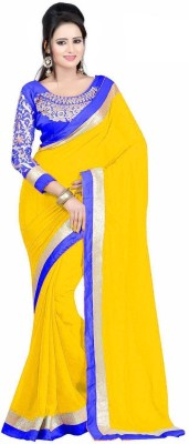 Style Amaze Plain Daily Wear Chiffon Sari