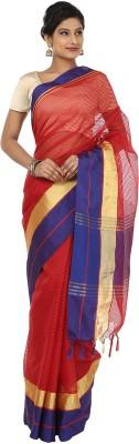 Sevensquare Checkered Banarasi Net Sari
