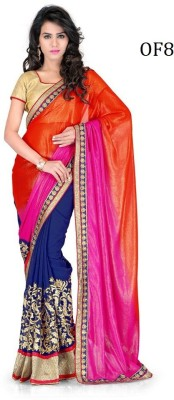 RjFebric Embriodered Katha Georgette Sari