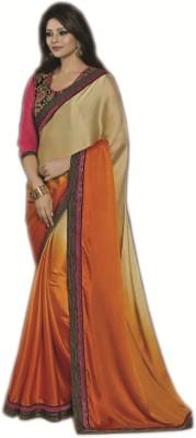 Fashion Spot Embriodered Fashion Crepe Sari