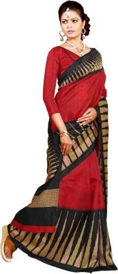 Urban Vastra Checkered Bhagalpuri Jute Sari