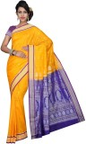 Mahila Silks Woven Paithani Art Silk Sar...
