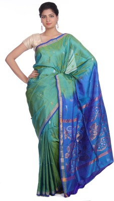 Indian Artizans Woven Jamdani Handloom Silk Sari