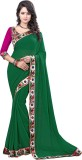 Granth Solid Bollywood Georgette Saree (...