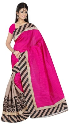 Pichkaree Printed Bhagalpuri Art Silk Sari