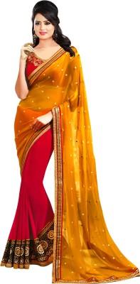 Go4fashion Embriodered Fashion Net, Georgette Sari