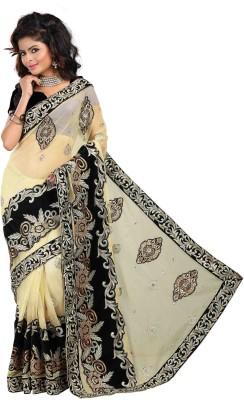 KARRA 99 Embriodered Bollywood Velvet Sari