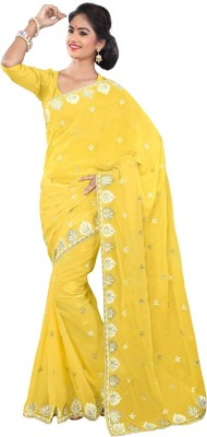 Ethnic For You Embriodered Fashion Georgette Sari