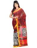 Yehii Printed Fashion Chiffon Saree (Bla...