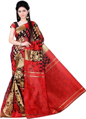 Zombom Embriodered Daily Wear Jacquard Sari