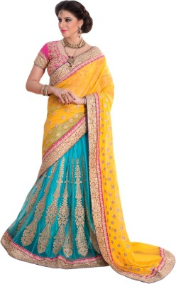 Kiteshop Embriodered Fashion Georgette Sari