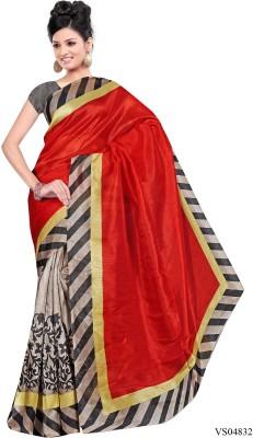 Saanu Self Design Fashion Handloom Cotton Sari