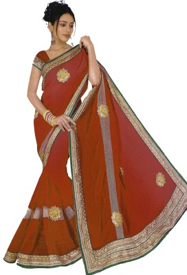 Bosan Fashion Self Design Bollywood Chiffon Sari