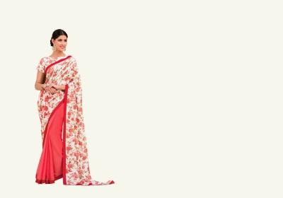 NARGIS FASHION Printed Fashion Cotton, Net, Chiffon Sari
