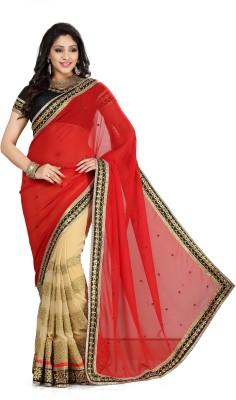 Aanya Embellished, Embriodered Fashion Georgette, Chiffon Sari