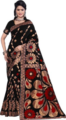 SARIMANIA Embellished Fashion Handloom Banarasi Silk Sari