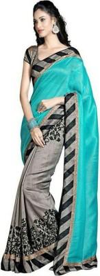 Yuvati Printed Bandhej Cotton Linen Blend Sari