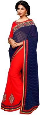 RCPC Embriodered Fashion Crepe Sari