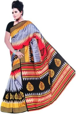 Arohee Printed Bollywood Cotton, Silk Sari