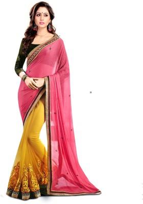 Krishna Prints Embriodered Fashion Georgette Sari