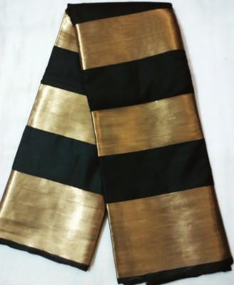 Gangamai Striped Fashion Poly Silk Sari