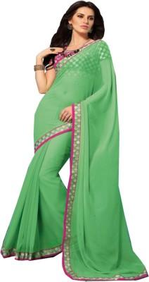 Charu Boutique Solid Daily Wear Handloom Georgette Sari