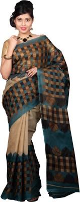 Glamorous Lady Checkered Mangalagiri Polycotton Sari