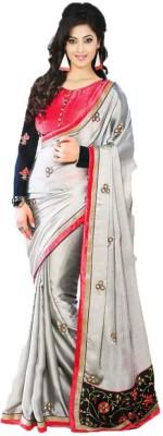 Meshwa Fashion Embriodered Bollywood Handloom Synthetic Crepe Sari