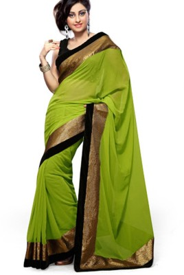 Chandramoulifashion Self Design Bollywood Handloom Chiffon Sari