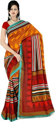 Glamoroussurat Fashion Printed Daily Wear Handloom Georgette Sari