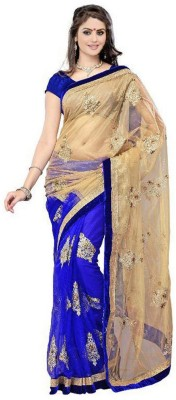 Panchi Embriodered Bollywood Chiffon, Net Sari