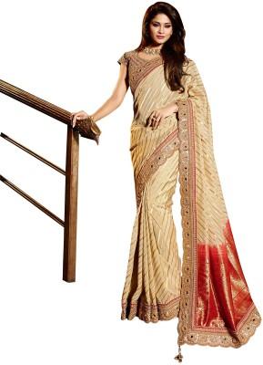 SAHAJ Embriodered Fashion Viscose, Khadi Sari