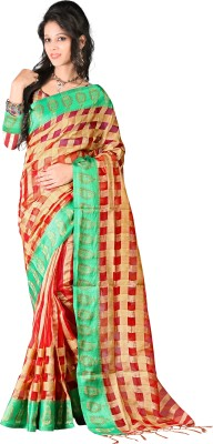 Kajal Syntex Embellished Banarasi Jacquard Sari