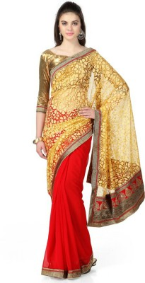 Giftsnfriends Self Design Bollywood Brasso Sari