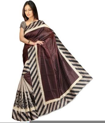 Krishnaamfashion Printed Bhagalpuri Silk Sari