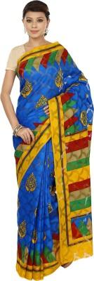 Sri Sai Vastra Printed Daily Wear Silk, Cotton, Brasso Sari