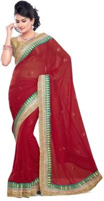 Porcupine Self Design Bollywood Georgette Sari