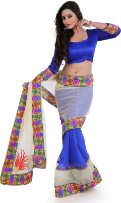 Vivels Enterprise Self Design Bollywood Net Sari