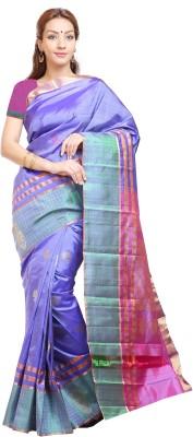 Aruna Sarees Floral Print Kanjivaram Handloom Pure Silk Sari