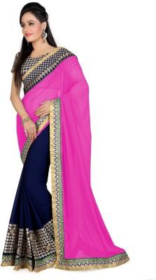 Giriraj Fashion Embriodered Fashion Georgette Sari