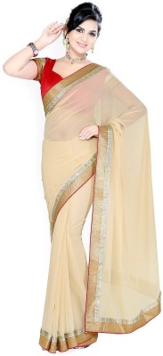 Bhuwal Fashion Solid Fashion Chiffon Sari