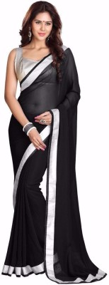 Fabdesire Plain Fashion Georgette Sari