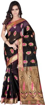 Weavedeal Embellished, Self Design Banarasi Banarasi Silk, Brocade Sari