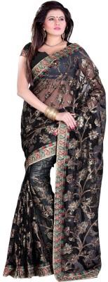 Sangam Prints Self Design Fashion Net, Synthetic Sari