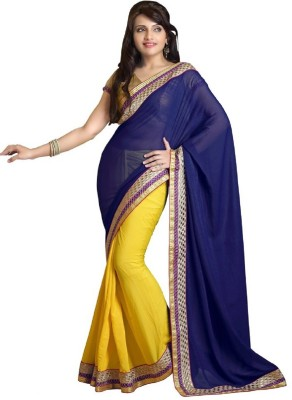 Snapflips Embriodered Bollywood Georgette Sari